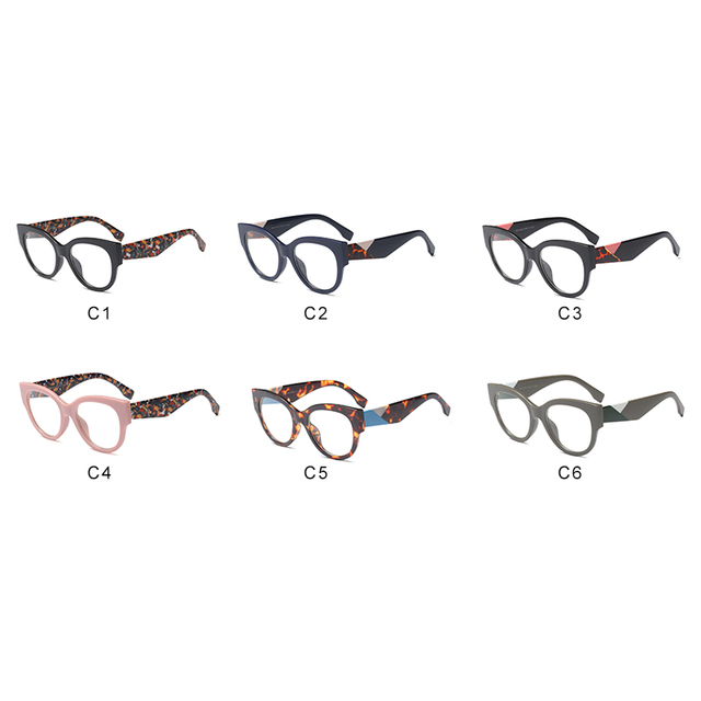 ROYAL GIRL Cat Eye Eyeglasses Frame Women 2018 Vintage Black Leopard Optical Glasses for Female Oversize Eyewear Frame os028