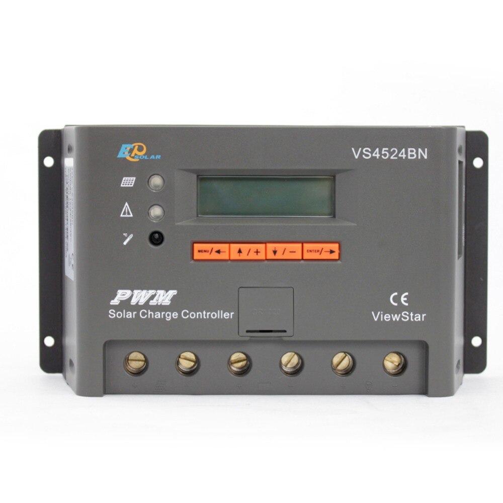 EPSOLAR VS4524BN 45A ViewStar 12V 24V Auto EP PWM Solar Charge Controller LCD Display