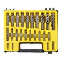 0 4 3 2mm 150Pcs Micro Precision Mini Twist Drill Bit Kit HSS With Carry Case