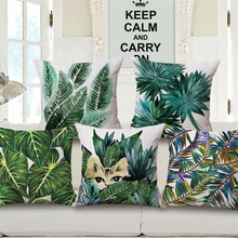 Tropical Palm Leave Decorative Pillow Cover Patterns Flamingo Print Decoration Nordic Style Cushions Cover 2017 45*45cm e973