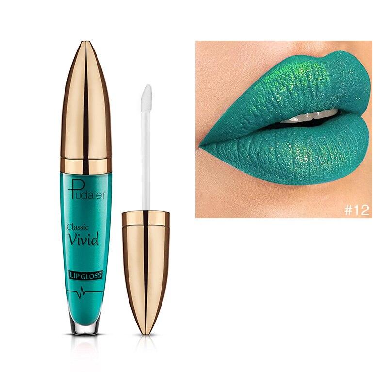 Glitter Liquid Lipstick Waterproof Non-stick Matte Lip Gloss Stick Women Makeup Lipsticks OA66