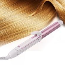 WENYI 3 in 1 Foldable Hair Curler Fast Heating Mini Ceramic Curling Iron + Hair Straightener Flat Iron+Corn Plate Hair Curler все цены