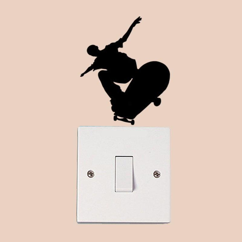 Skate Boy Fashion Home Decor Wall Decal Light Switch Sticker Vinyl 6SS0427