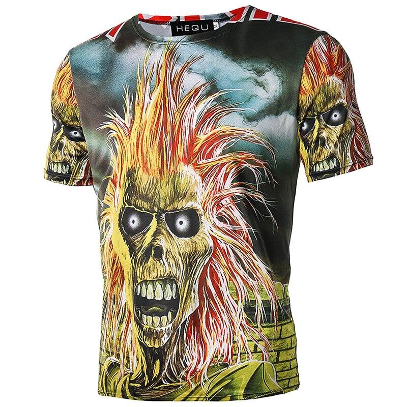 Gothic Tops Rock tshirts rap hiphop shirts tee kleding Merk T-shirt - Herenkleding