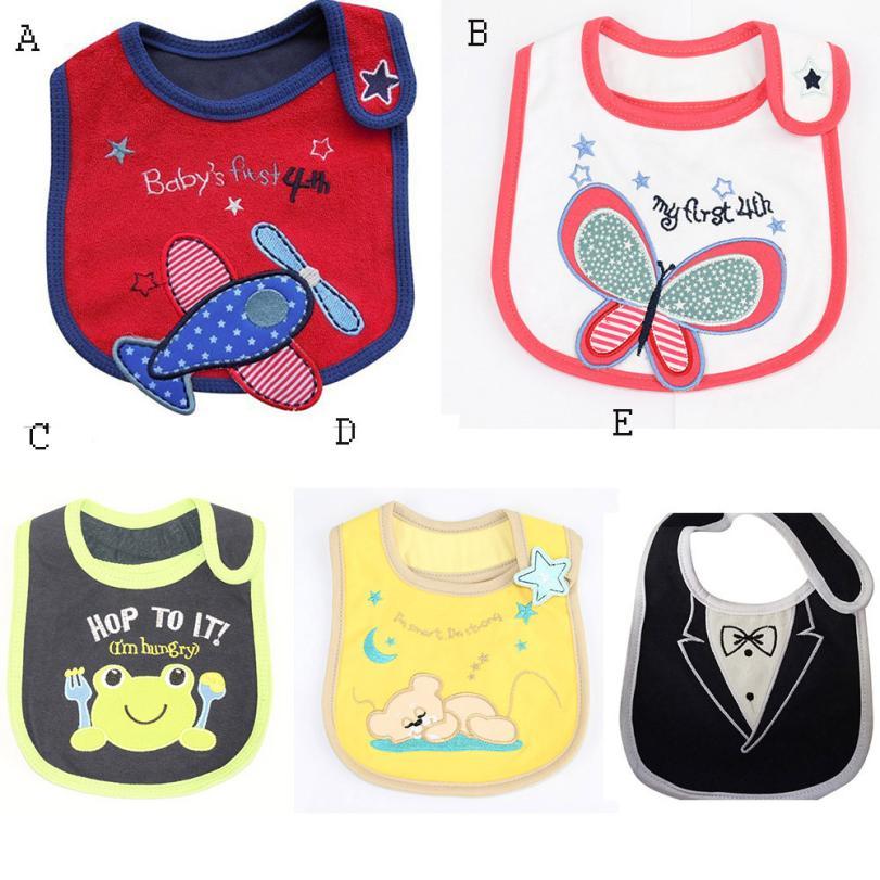 BMF TELOTUNY Fashion Baby Newborn Infants Kids Toddler Cotton Cartoon Waterproof Bibs Sa ...