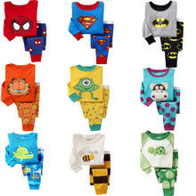 2016 children pajamas set kids baby girl boys Cartoon Casual pijamas infantil kids Spiderman BatMan Pyjamas Sleepwear
