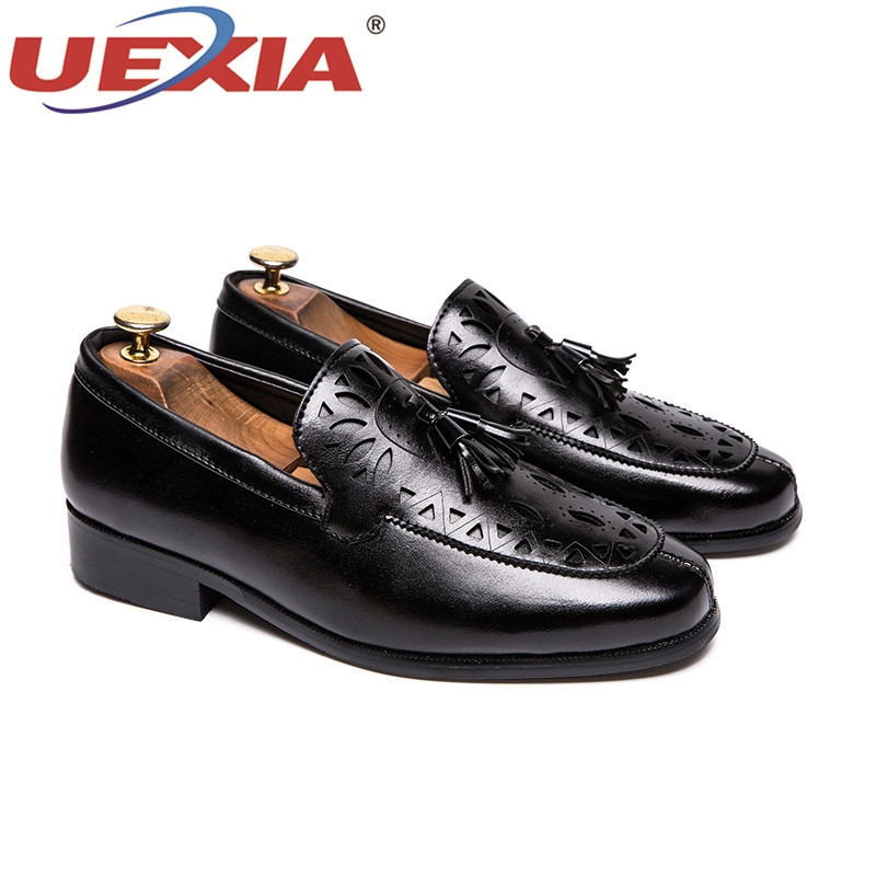 UEXIA Pointed Toe Men Wedding Shoes Blue Red Man Dress Shoes Spring Autumn  Social Footwear Rubber Sole Comfortable Business Shoe-in Formal Shoes from  Shoes ... 2496372f142b