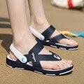 2016 Homens Sandálias de Verão Respirável Sapatos Flip Flop Casual Praia Desliza Chinelos Fresco Sapatos Confortáveis Macio