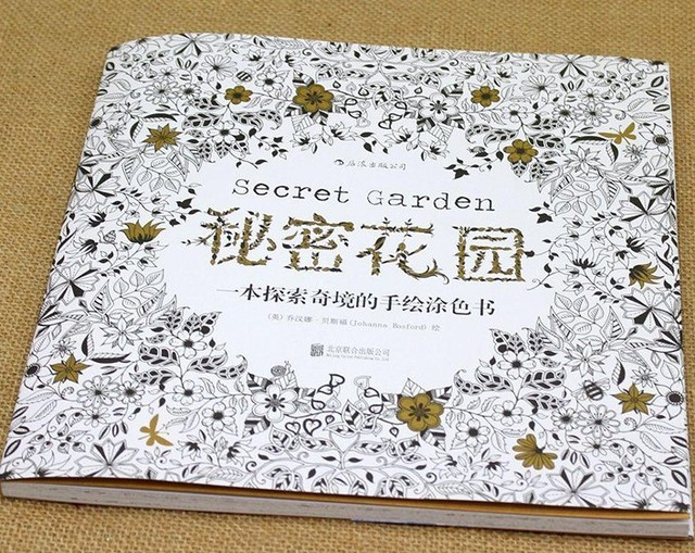 Best Selling Chinese And English Version Secret Garden Adult Colouring Book For Pressure Reducing Without Pencils