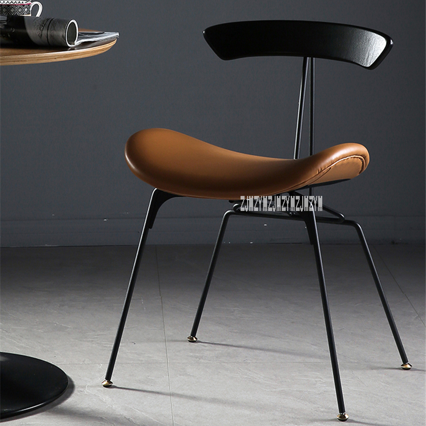 Superb Us 110 49 13 Off Industrial Style Dining Chair Iron Leg Leisure Ant Chair Vintage Easy Chair Simple Negotiation Chair Leather Casual Chair In Dining Alphanode Cool Chair Designs And Ideas Alphanodeonline