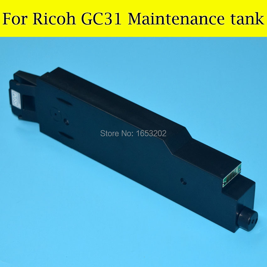 1 PC High Quality Maintenance Cartridge Tank For Ricoh GC31 Waste Ink Box For Ricoh GXe3350n/GXe5500/GXe5550n/GXe7700 free shipping high quality ink cartridge compatible for hp835 836 ip1188 large capacity