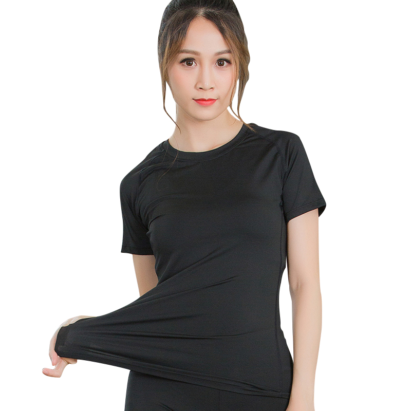 2018 Quick Dry Sports Jerseys Fitness Yoga Top Compression Female T-Shirt Running Tights Gym Workout Clothes Women Yoga Shirt women s gym t shirt yoga top sport t shirt quick dry fitness clothing yoga shirt sports jerseys gym running tank tops