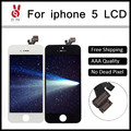 10PCS Grade AAA No Dead Pixel For iPhone 5G LCD Display Digitizer Assembly Pantalla 4 inch Cold Press Frame  Free shipping DHL