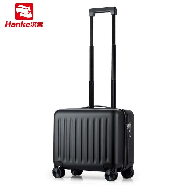 Ханке ПК скользящий Чемодан Spinner Тележка вести Чемодан s с универсальным колеса интернат случае коммерческих дорожного чемодана сумка