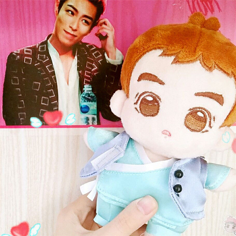 KPOP Bigbang TOP Little Choi SeungHyun Stuffed Doll Plush Cut Handmade Toy new kpop bigbang gd gdragon the same gd is back peaceminusone seoul hand bag