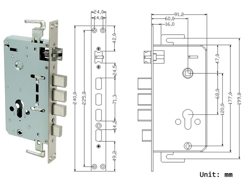 HTB18zF jNPI8KJjSspfq6ACFXXaj RAYKUBE Biometric Fingerprint Door Lock Intelligent Electronic Lock Fingerprint Verification With Password & RFID Unlock R-FZ3