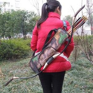 Охотничий колчан для стрел сзади бедра поясная сумка стрелка ленточки с бантиками сумка Прямая доставка