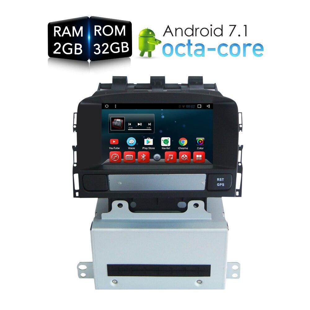 Android 7.1 Автомобильный DVD стерео плеер GPS мультимедиа для OPEL Vauxhall Astra J 2011 2012 2013 авто Радио RDS GPS ГЛОНАСС