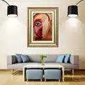 Artcozy Goldene Rahmen Abstrakte moderne kunst Wasserdichte Leinwand Malerei