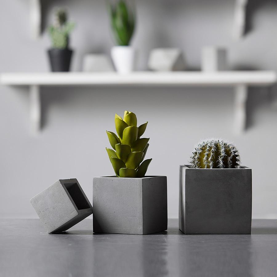 6cm Square Shape Succulent Plants Flowerpot Concrete Mold Cement Clay Crafts DIY Gypsum Plaster Mini Pot Silicone Molds