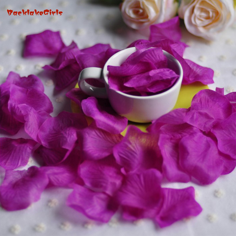 Großhandel Hochzeit Rose Blütenblätter 1000 Teile/los Dekorationen Rayon Silk Blumen Polyester Hochzeit Rose Neue Mode 2018 Künstliche Rosenblüten
