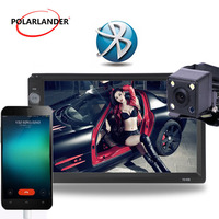 LCD Touch Screen Optional 170 degree CCD rearview camera 2 DIN 7 inch Car Radio Player Bluetooth Auto Radio Mirror Link