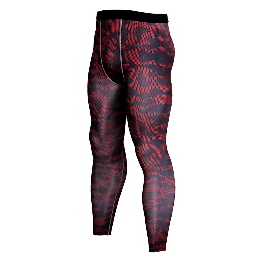 2018 New Camouflage Pants Men Compression Pant Elastic Fabrics Lifting Bodybuilding Skin Tights Trousers Brand Clothing