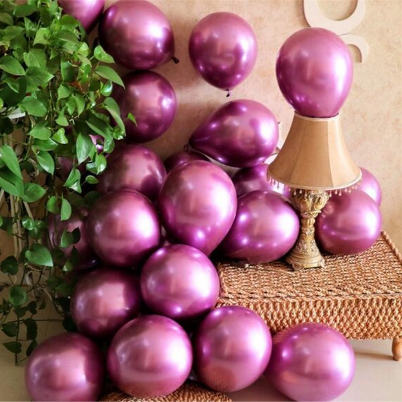 30pcs lot 10 inch 1 8g latex metal balloons decorations wedding balloon baby birthday party ballon helium inflatable air ball in Ballons Accessories from Home Garden