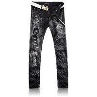 Impression un léopard Taobao jeans hommes livraison paquet au nom de la nouvelle printemps et d'été long pantalon
