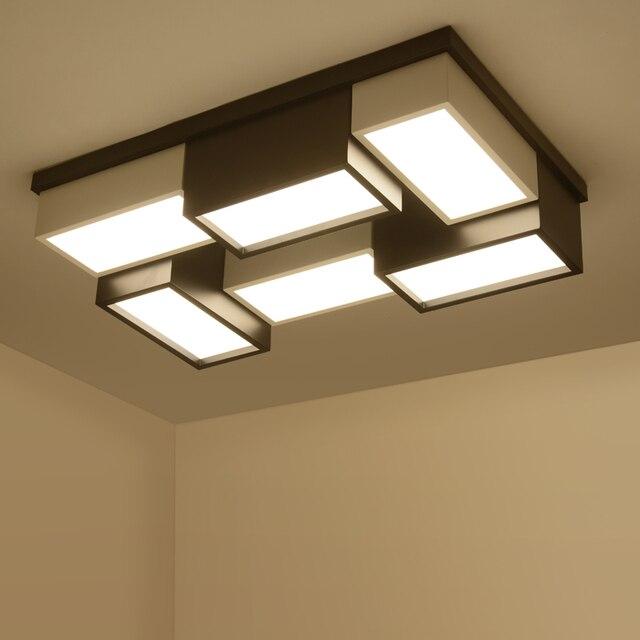 Illuminazione A Soffitto.Us 285 0 Ufficio Moderno Lampade Illuminazione Soffitto Lampade A Led Atmosfera Casa Creativa Personalita Geometrica Rettangolare Illuminazione Za