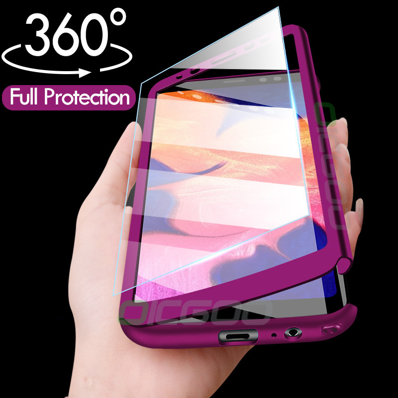 Чехол с защитой на 360 градусов для samsung Galaxy A8 A6 J4 J6 J8 плюс A7 A9 2018 телефонные чехлы для samsung Galaxy A50 A30 M20 M10 чехол
