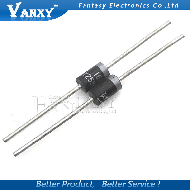 20PCS BY255 Rectifier Diode 3A 3000mA 1300V DO-201 New Original