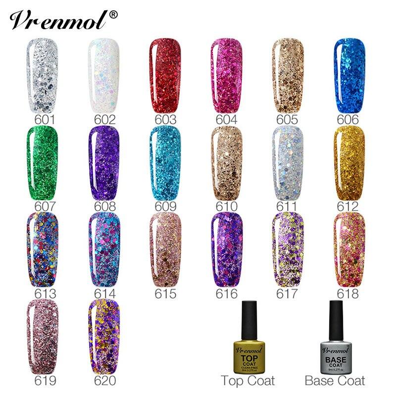 Vrenmol Gelpolish Hybrid Diamond Glitter Gel Nail Polish UV Nail Art - Маникюр - Фотография 2