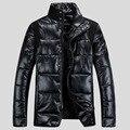 New Fashion Stand Collar Winter Jackets For Men Slim Shoulder Patchwork Jacket Men Winter Good Quality Casacos De Inverno