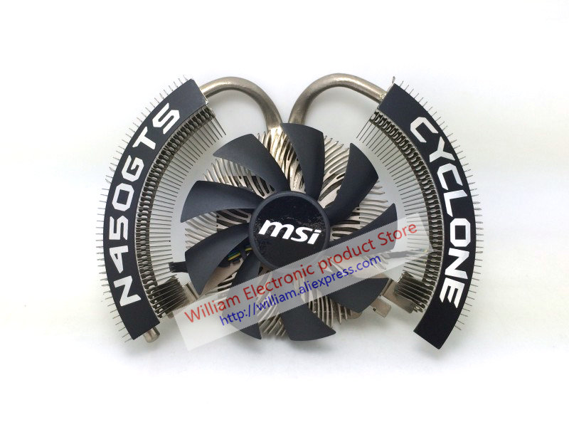 New Original for MSI N450GTS Graphics cooler fan GTS450 CYCLONE blade two heat pipes fit R6850 цены