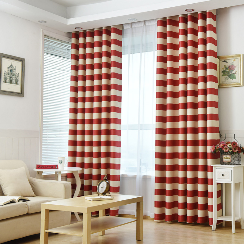 Elegant Geometric Striped Design Blackout Curtains For Bedroom Modern Living Room Decorative Door Drapes