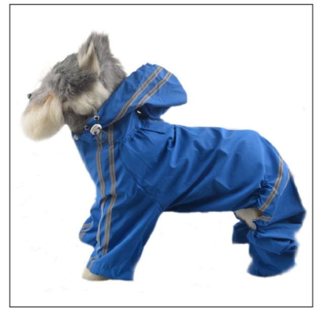 Fc80 Large Dog Raincoat Pet Hoodies Jumpsuit Big Dog Raincoat
