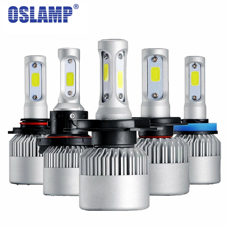 Oslamp S2 H4 H7 H13 H11 H1 9005 9006 H3 9004 9007 9012 COB LED Headlight 72W 8000LM Car LED Headlights Bulb Fog Light 6500K 12V