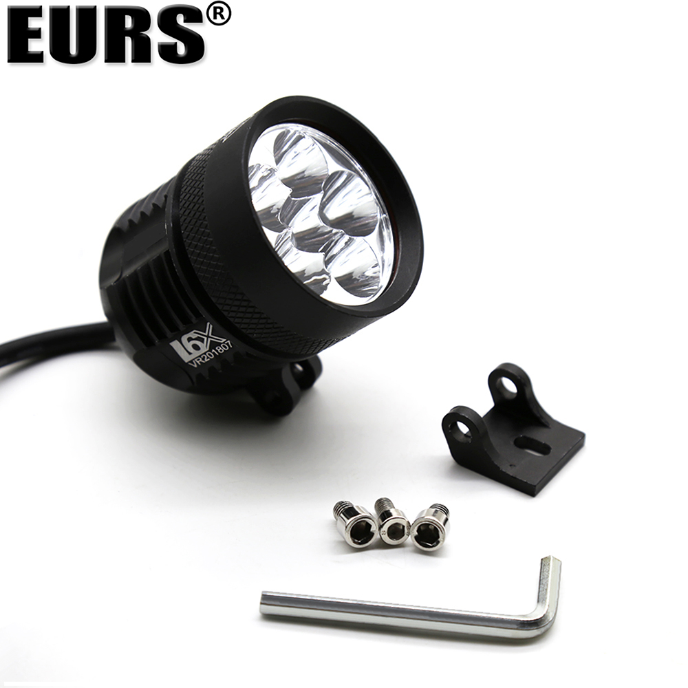 EURS Motorcycle Headlight Bulb External DRL L6X Fog Light White 6LED Brand chips Spotlight font b