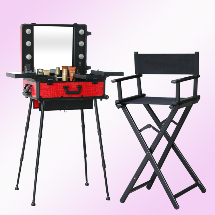 1set/lot, Lighting Makeup Table With Portable Chair, Makeup Station With  Lights And Matching Foldable Chair In Cosmetic Bags U0026 Cases From Luggage U0026  Bags On ...
