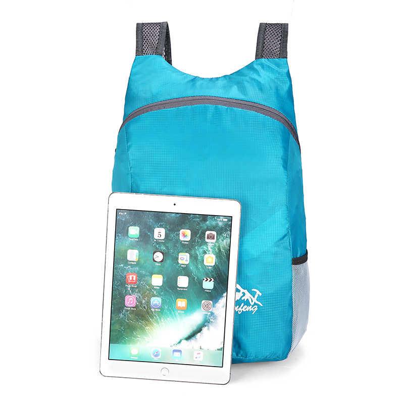 20L Leichte Packable Rucksack Faltbare ultraleicht Outdoor Klapp Handliche Reise Daypack Tasche nano daypack für männer frauen