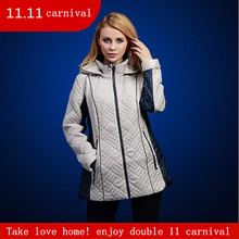 autumn and winter jacket women Fashion Short Slim Warm coat with hood for Europe and the
