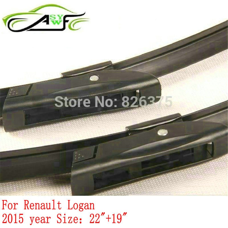 Car wiper blade for Renault Logan (from 2015) 22+19 fit Bayonet type wiper arms only image