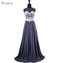 Long Evening Dress 2017 New Arrival A-line Sweetheart Gold Lace Women Formal Dresses Floor Length Black Chiffon Evening Gowns