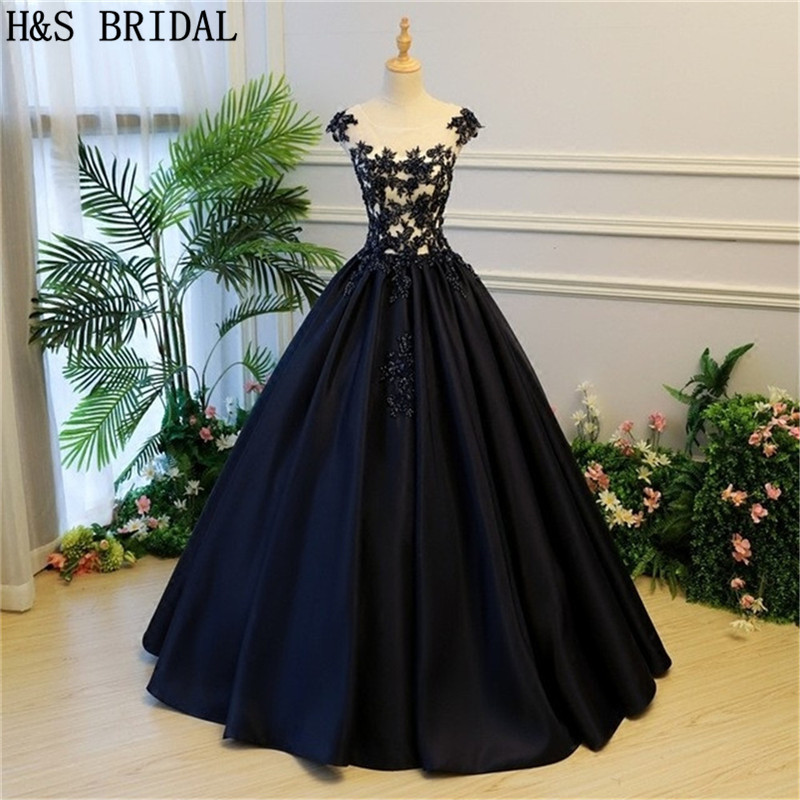 Ball-Gown Dresses Vestido-De-Festa BRIDAL Formal Evening Lace-Up Long H--S