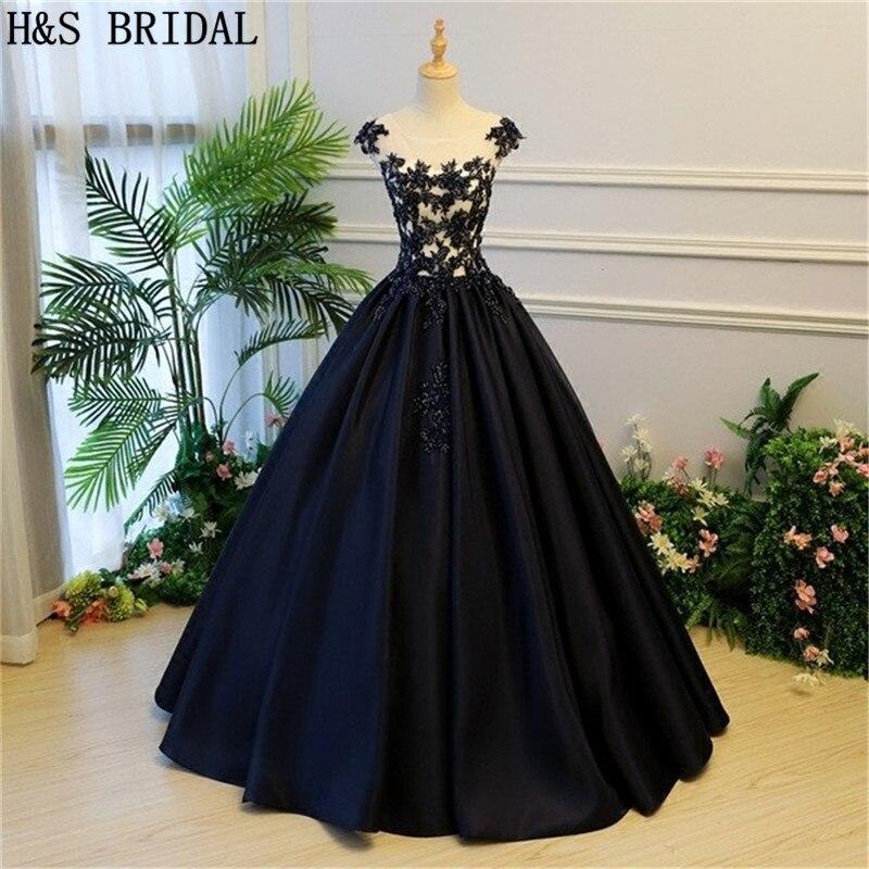 H&S BRIDAL Ball Gown   Prom     Dresses   Lace Up Long formal evening   dresses   party gowns 2019 vestido de festa