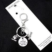 eac0876137896 2019 2020 التخرج خريج المفاتيح مربع كلية كاب دبلوم كبار سلاسل المفاتيح  المعلم مفتاح ميدالية مفاتيح ذات حلقة النساء الرجال مجوهرا.
