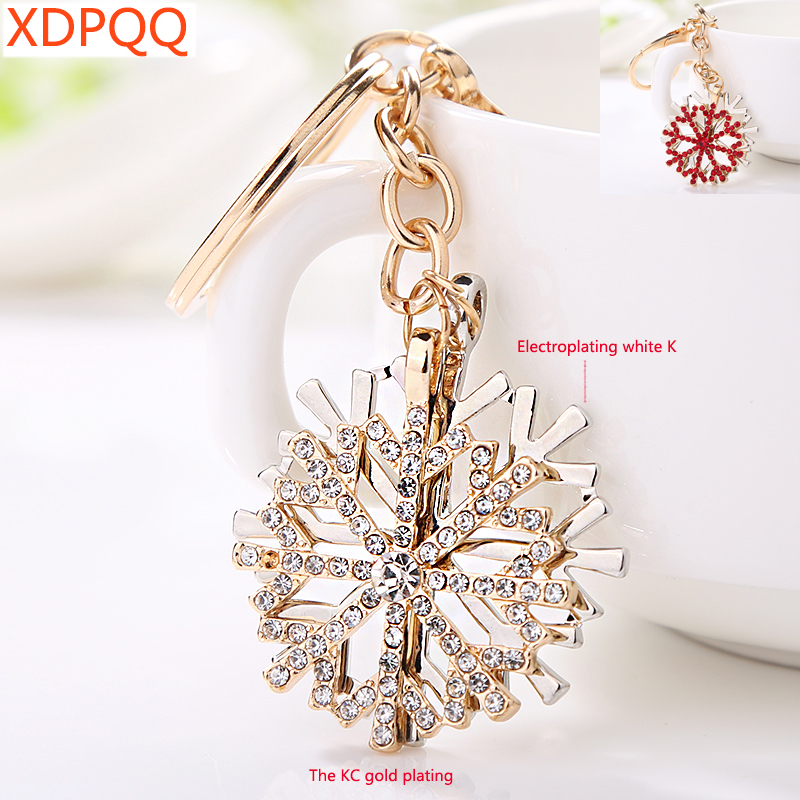 Creative Jewelry Key Chain Snowflake Keychain Ladies Jewelry Gift Cute Snowflake Car Pendant 2 Colors