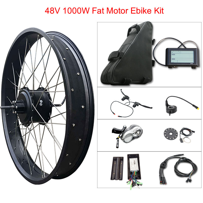 "48v 1000w Fat Tire Electric Bike Kit for 20"" 26"" Motor Wheel 48V 20ah Lithium Battery Ebike E bike Electric Bike Conversion Kit"