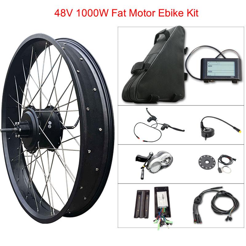 "48v 1000w Fat Tire Electric Bike Kit for 20"" 26"" Motor Wheel 48V 20ah Lithium Battery Ebike E bike Electric Bike Conversion Kit"